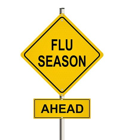 Caution sign: flu season ahead